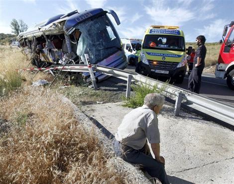 08-07-2013 - Espagne - Neuf personnes sont mortes et 20 ont été ble...