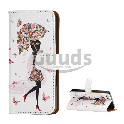 Aliexpress.com : Buy For iPhone SE Flower Umbrella Girl Leather Wallet Case for iPhone SE / for iPhone 5s / for iPhone 5 free shipping from Reliable leather wallet case suppliers on World BestBuy S...