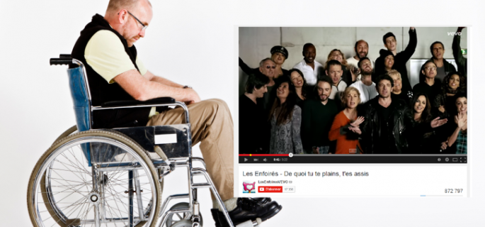 Humour : Les Enfoirés : la chanson « De quoi tu te plains, t'es assis » choque les associations de personnes handicapées