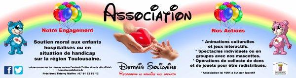 BIENVENUE DANS NOTRE ASSOCIATION DEMAIN SOLIDAIRE!