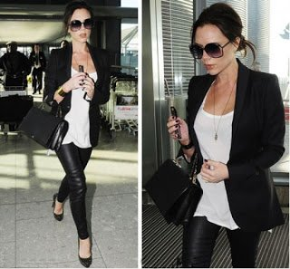 87a5049152fe The perfect woman Exquisite fashion shoes  Victoria Beckham wears Christian  Louboutin Pumps to go out