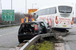 Coach collision on Black Country Route « Express & Star