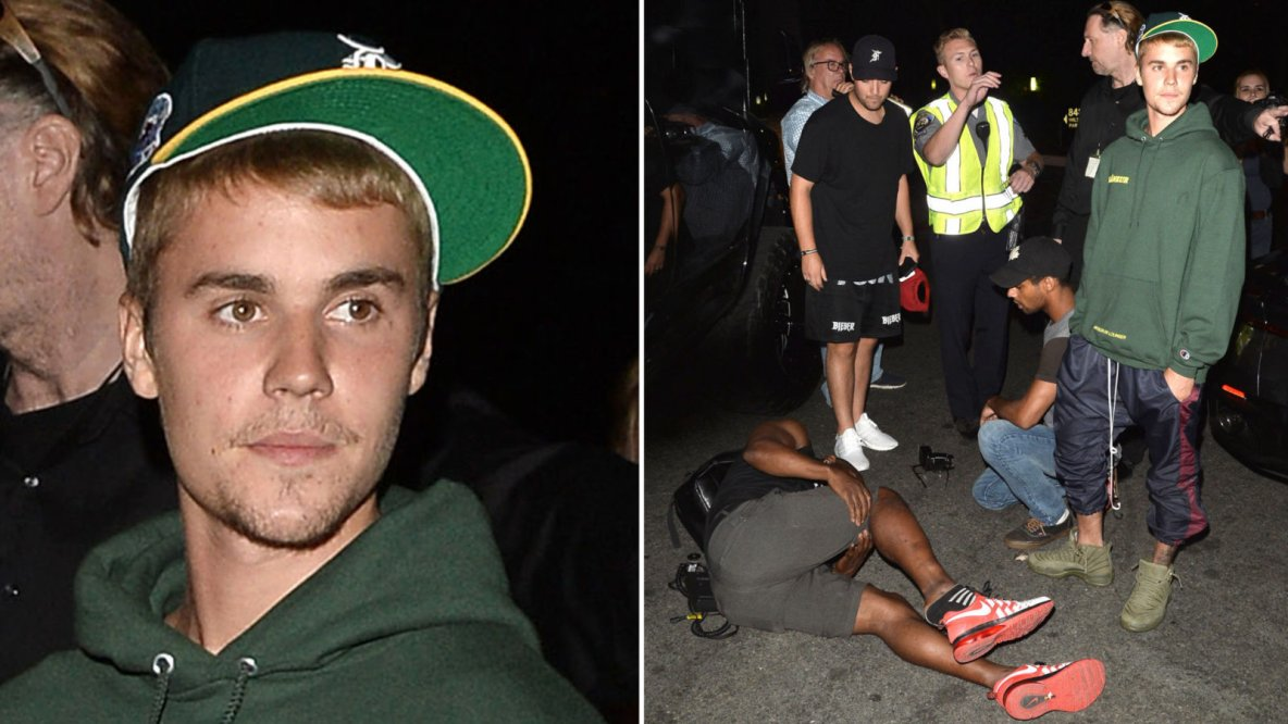 Justin Bieber hits photographer with pick-up truck in Beverly Hills