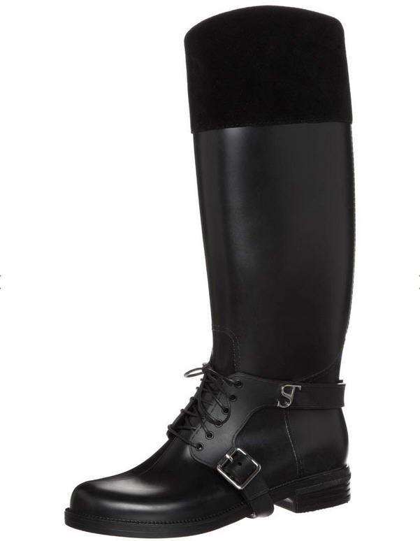 supertrash lacey bottes en caoutchouc noir zalando. Black Bedroom Furniture Sets. Home Design Ideas