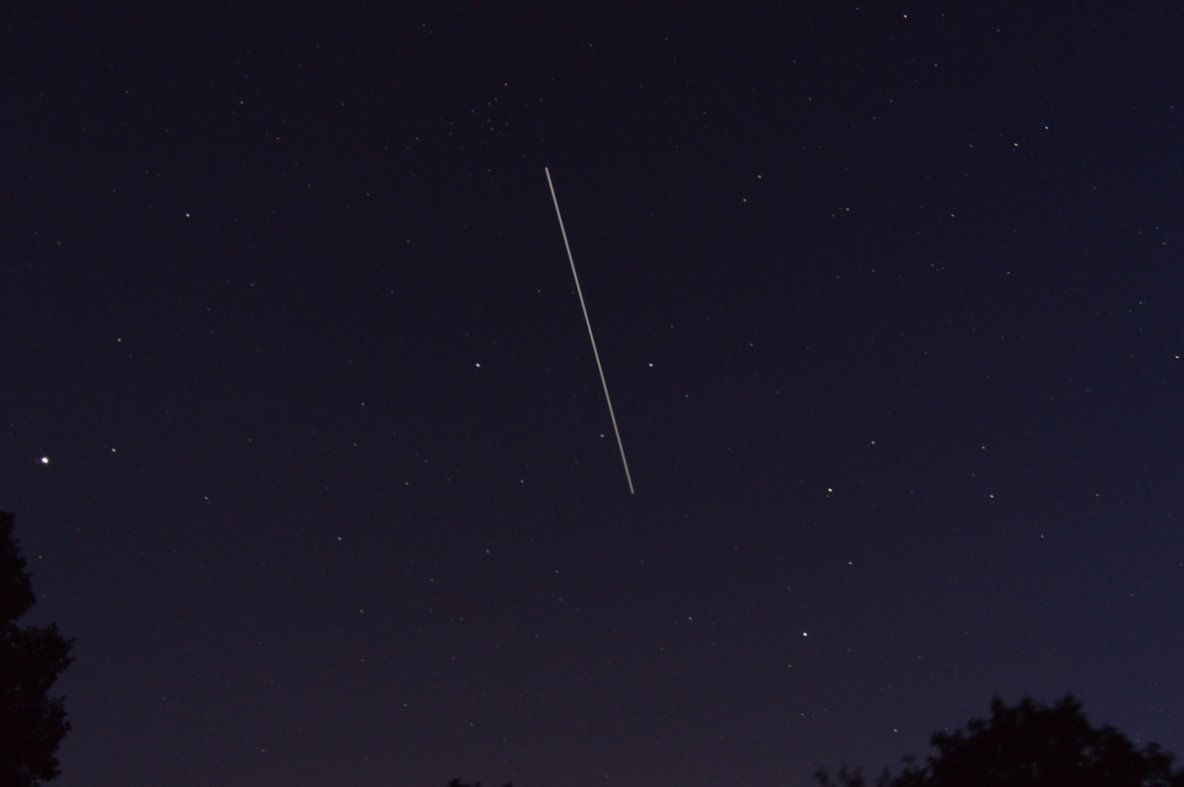 Deux passages de l'ISS (cliquez sur la photo)