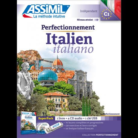 L'italien, se perfectionner en italien en livre – Assimil