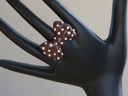Bague Nœud Papillon en fimo Réglable : Bague par jl-bijoux-creation