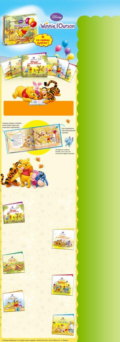 Coffret Disney Winnie l'Ourson - Découvrez ce magnifique coffret de 6 livres !