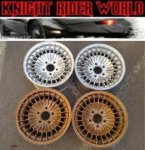 "82 PONTIAC FIREBIRD KNIGHT RIDER KITT RIMS 15"" SUPERCAR"