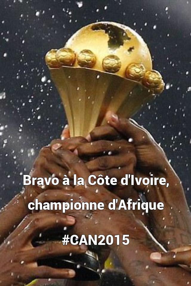 Bravo à la Côte d'Ivoire, championne d'Afrique   #...