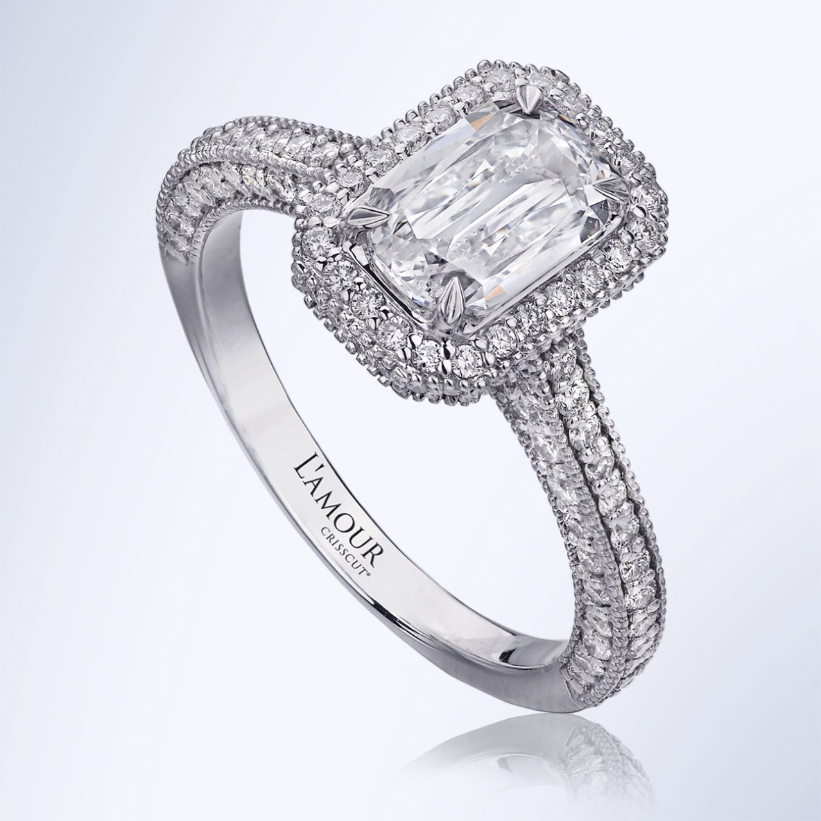Renee - Lamour Crisscut unique diamond engagement rings