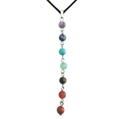 Suspension Sept minéraux - Magie des Bijoux