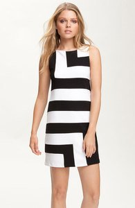 Bailey 44 'Flight Delay' Color Block Black and White Dress Sz XS New