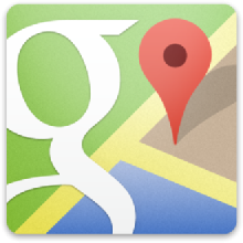Karten anzeigen und lokale Firmen im Internet suchen.