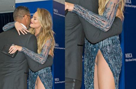 Chrissy Teigen : la femme de John Legend en montre (vraiment) trop à la Maison Blanche - Yahoo Actualités France
