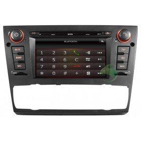 Auto DVD Player GPS Navigationssystem für BMW E93 3 Series(2005 2006 2007 2008 2009 2010 2011 2012) Cabriolet (automatische Klimaanlage+beizbarer Sitz)