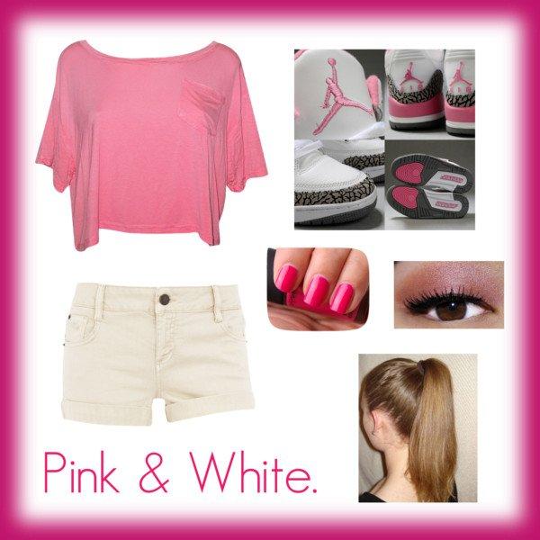 Pink & White.