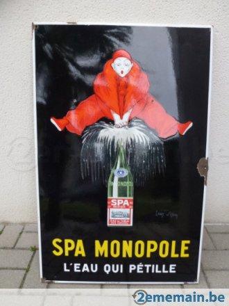 Plaque émaillée * * * spa monopole * * * - A vendre | 2ememain.be