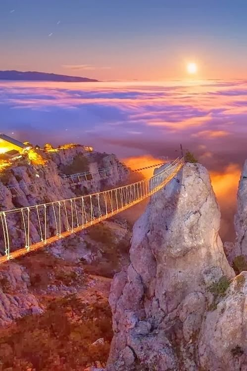 Mount Ai-Petry at Night, Crimea, Ukraine | Places to visit before you die | Pinterest