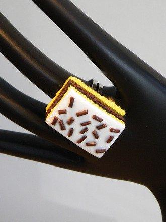 Bague Napolitain en fimo réglable : Bague par jl-bijoux-creation