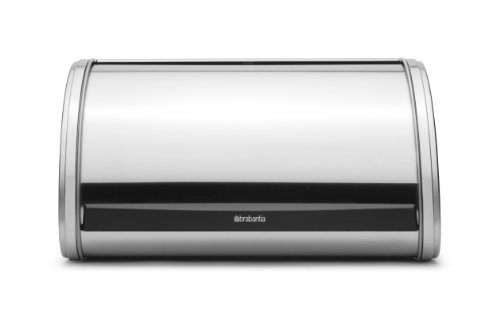 Brabantia Roll Top Matte Steel Bread Bin |
