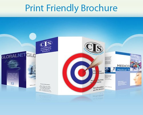 How to Make Your Brochure Design Print Friendly -