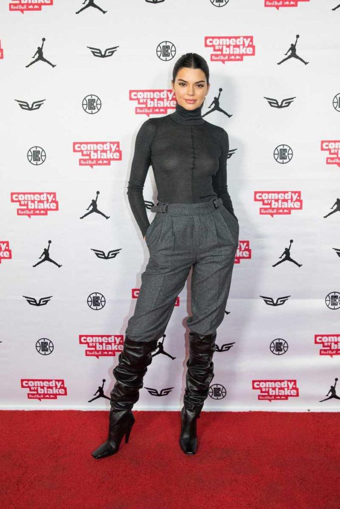 Kendall Jenner Nipples in See Through Black Turtleneck – World Sex News
