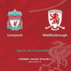 Prediksi Liverpool vs Middlesbrough 21 Mei 2017