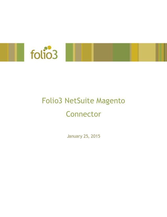 Folio3's NetSuite Magento Connector is an out of the box, Integration as a Service (IaaS) solution that provides fully automated, seamless integration between …
