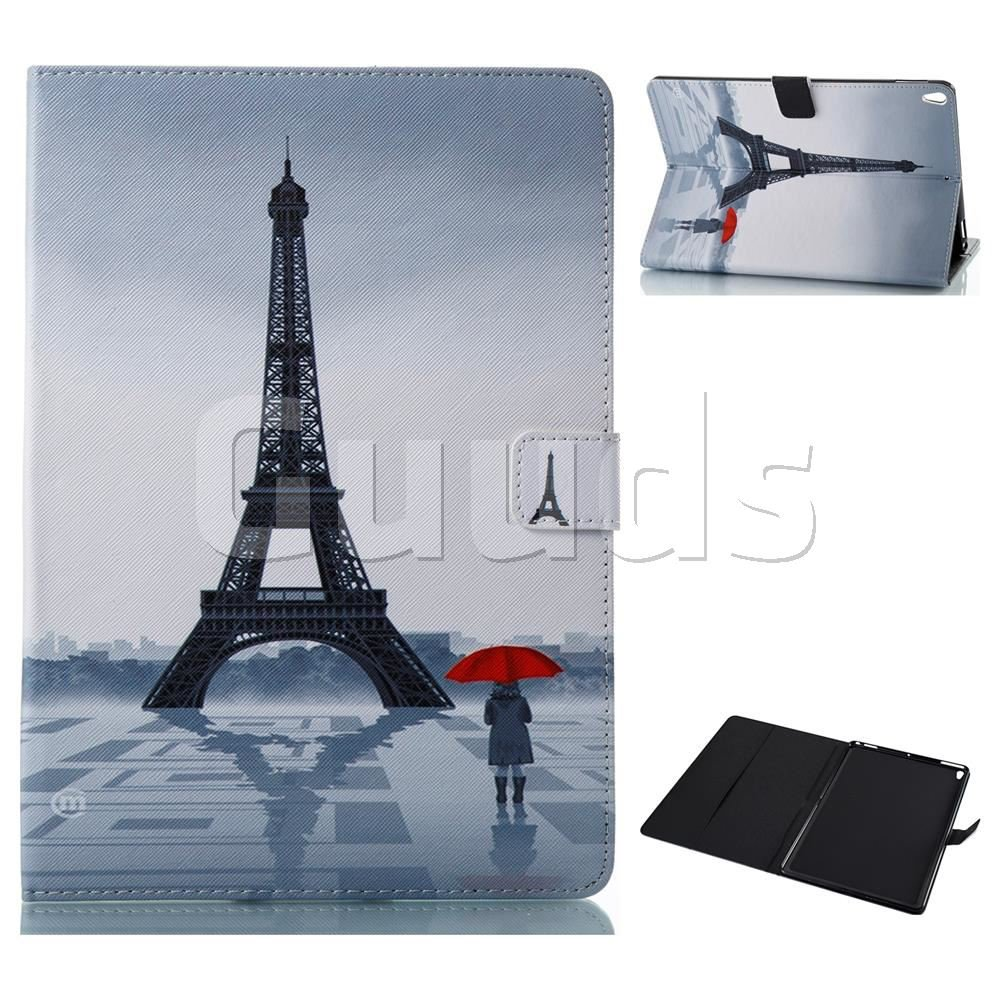 Rain Eiffel Tower Folio Stand Leather Wallet Case for iPad Pro 10.5 - Leather Case - Guuds