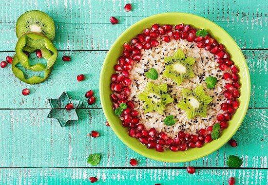 Porridge grenade kiwi
