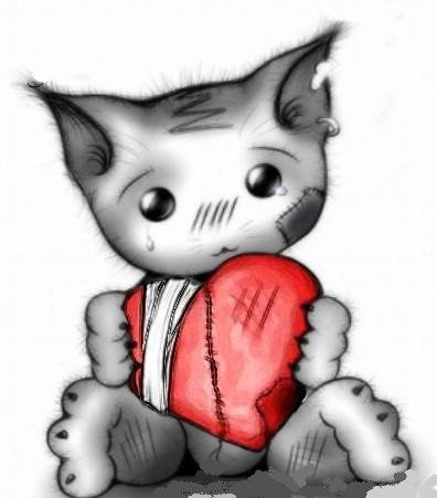 Un petit coeur qui bat sur le bout des doigts.
