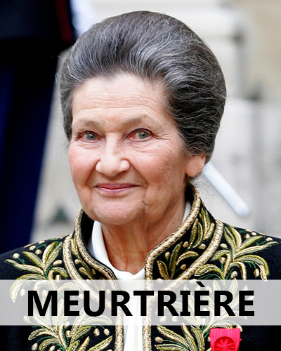 Le  site d'information du Parti Nazi Français se réjouit de la dégradation de l'état de santé de Simone Veil