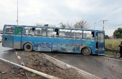 Biskra : Collision entre un bus et un véhicule : un mort et 7 blessés