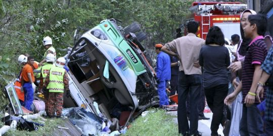 Vingt-six morts dans un accident de bus en Malaisie