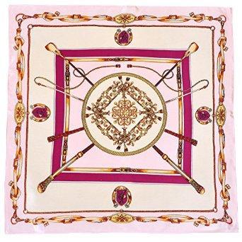 ionlyou® 100% Silk Square Scarves Women's Neck Scarf Handkerchief Muffler (Cream-color): Amazon.co.uk: Clothing