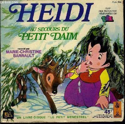 livre-disque 45t // Heidi au secours du petit daim de Johanna Spyri | Achat autres collections - Ref RO70245710 - le-livre.fr