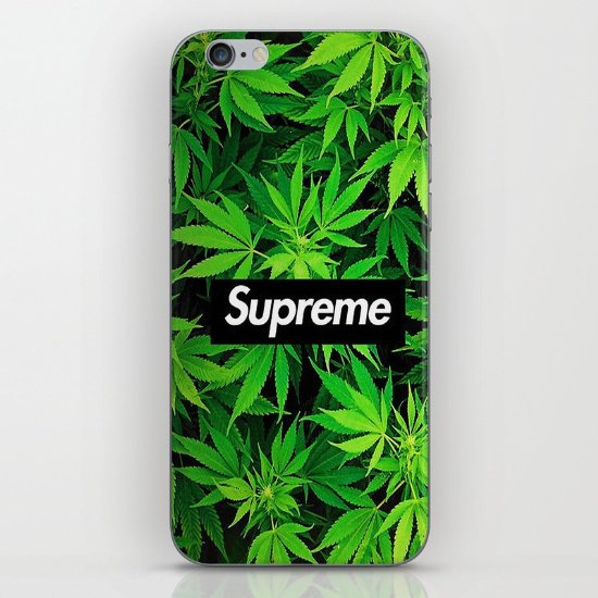 Weedpreme iPhone & iPod Skin by MrWhite