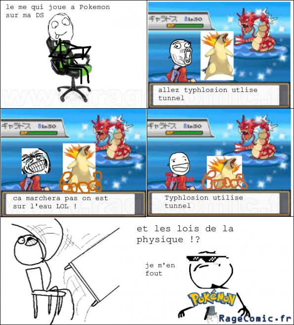 Pokémon et les lois de la physique