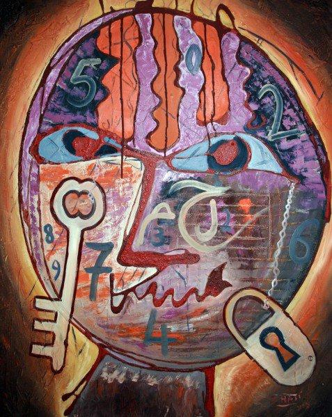« Le doute est la clé de toute connaissance. », Proverbe persan : peinture Said Haji