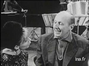 Annie Cordy et Bourvil répétant une nouvelle opérette