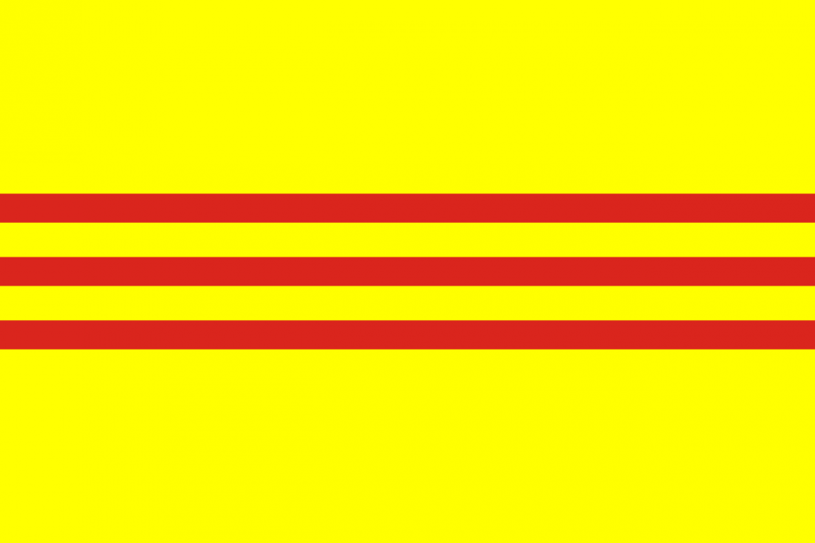 Beau drapeau d'un état mort