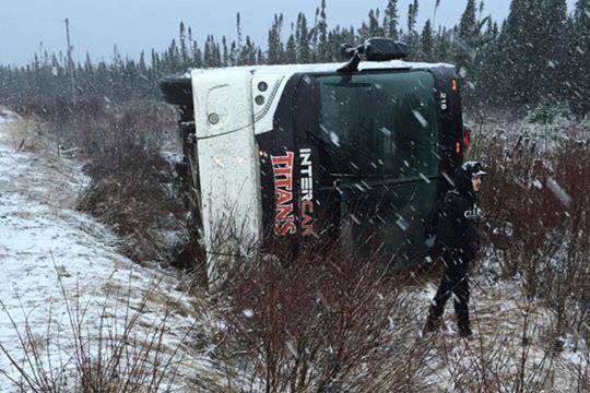 Sortie de route de l'autobus des Titans:l'accident fait de nombreux blessés | Serge Émond | Actualités