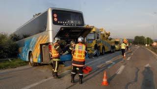 Accident d'autocar sur l'autoroute A35