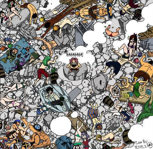 can you find Happy and Gajeel?