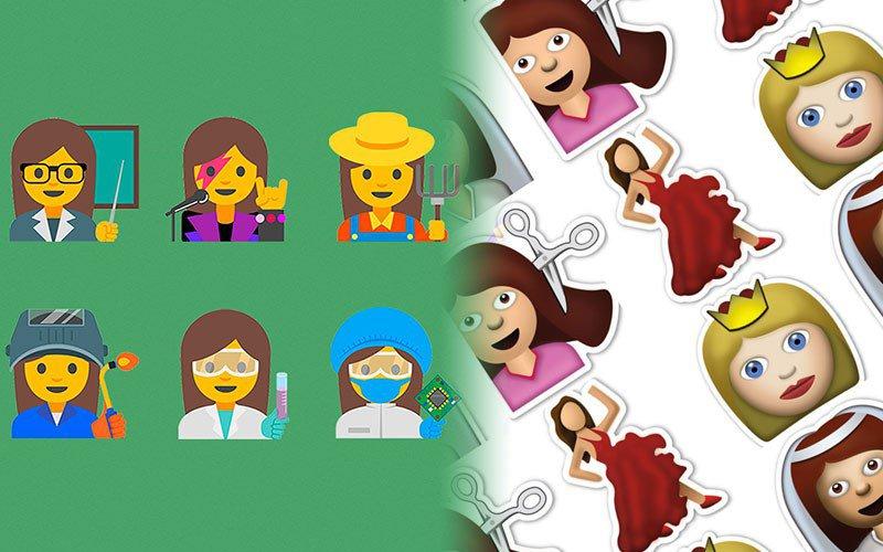Nouveaux emojis pour plus d'égalité des sexes?