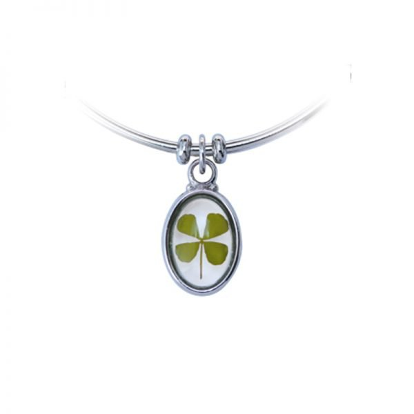 Bracelet Jonc Trèfle à 4 feuilles - Magie des Bijoux