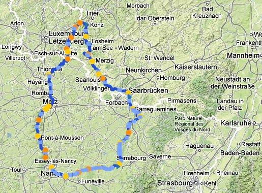 Revue Fluvial Fluviacap Fluppy étend ses calculs d'itinéraires fluviaux à la Moselle luxembourgeoise et à la Sarre allemande