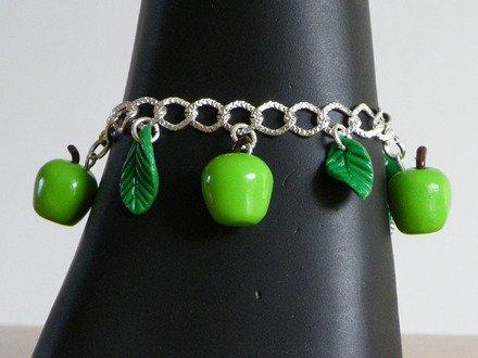 Bracelet pomme en fimo : Bracelet par jl-bijoux-creation