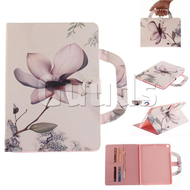 Magnolia Flower Handbag Tablet Leather Wallet Flip Cover for iPad Pro 9.7 2017 9.7 inch - Leather Case - Guuds